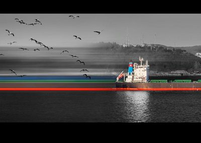 Istanbul shippings I, 40x130 cm