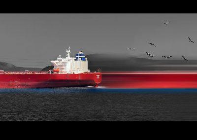 Istanbul shippings III, 40x130 cm
