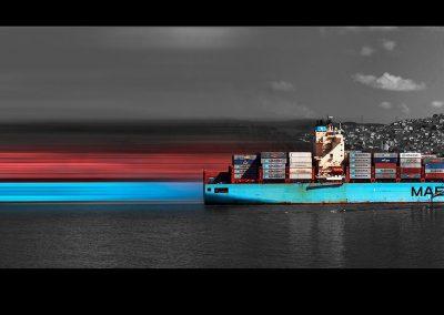 Istanbul shippings II, 40x130 cm